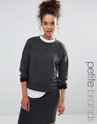 Укороченный свитшот Vero Moda Petite - Серый