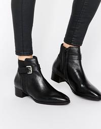 Кожаные ботинки челси с ремешком и пряжкой Ravel - Черный