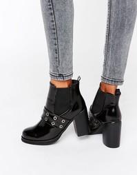 Ботинки челси на каблуке с люверсами Park Lane - Черный