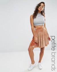 Вельветовая юбка мини Boohoo Petite - Красный