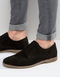 Черные замшевые туфли дерби Red Tape - Черный