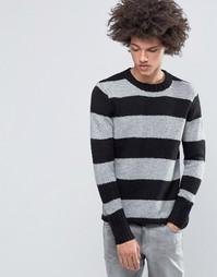 Полушерстяной вязаный джемпер в стиле колор блок Cheap Monday - Черный