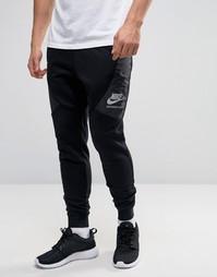 Черные зауженные джоггеры Nike International 802486-010 - Черный