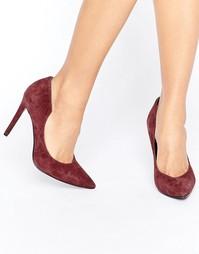 Бордовые замшевые туфли-лодочки Kendall + Kylie - Красный