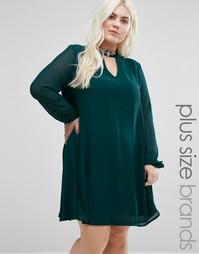 Платье с вырезом капелькой в стиле ретро Alice & You - Зеленый