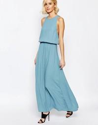 Платье макси дымчато-голубого цвета Just Female Rio - Синий