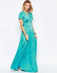 Платье макси с завязкой на талии Jovonna Premier Whitley - Зеленый