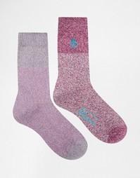2 пары фиолетовых толстых носков из крученой нити Penguin - Фиолетовый