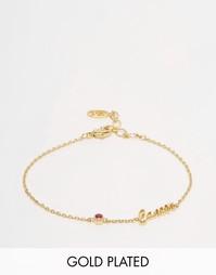 Позолоченный браслет со знаком Зодиака Cancer Astrid & Miyu - Золотой