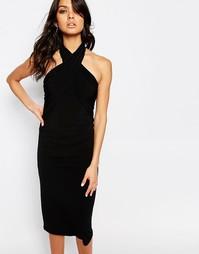 Платье с запахом спереди BCBGeneration - Черный
