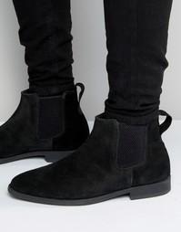 Черные замшевые ботинки челси KG By Kurt Geiger Guildford - Черный