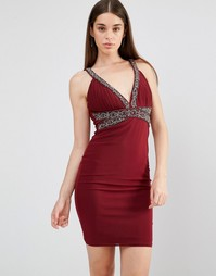 Платье с декоративной отделкой TFNC - Красный