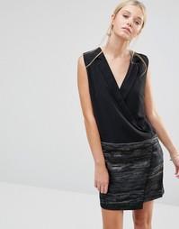 Платье с жаккардовой юбкой See U Soon - Черный