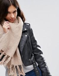 Вязаный шарф Alice Hannah - Серый