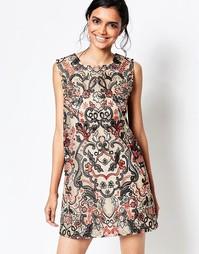 Бежевое цельнокройное платье Ganni City Hall - Бежевый