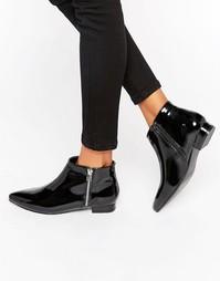 Лакированные ботинки на молнии London Rebel - Черный