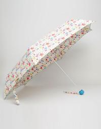 Зонт с цветочным принтом Cath Kidston - Кремовый