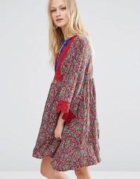 Платье мини с принтом Hazel - Красный