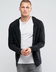 Кардиган на молнии с капюшоном Jack & Jones - Черный