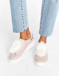 Кроссовки с меховой отделкой Blink - Розовый