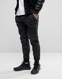 Черные джоггеры узкого кроя с принтом Nike 807265-014 - Черный
