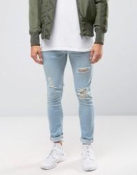 Рваные выбеленные джинсы Kubban - Черный