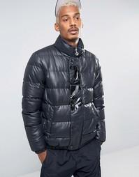 Черная дутая куртка Fila - Черный