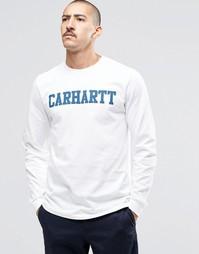 Лонгслив Carhartt WIP College - Белый
