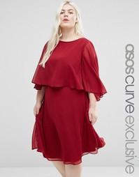Платье миди ASOS CURVE - Красный