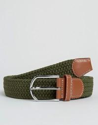 Узкий плетеный ремень 7X - Зеленый