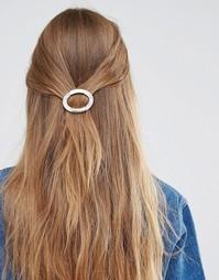 Круглая заколка для волос DesignB - Золотой