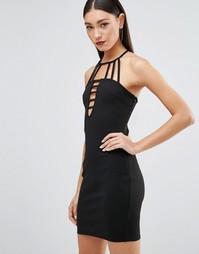 Платье с отделкой из лямок Parisian - Черный