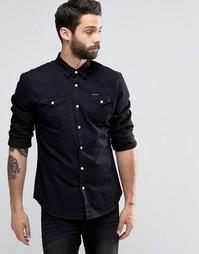 Джинсовая рубашка на кнопках Religion - Черный