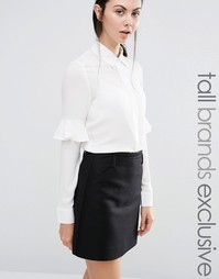Блузка с оборкой на рукавах Fashion Union Tall - Кремовый