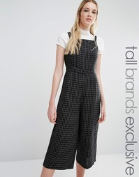 Комбинезон с юбкой‑шортами Fashion Union Tall - Черный