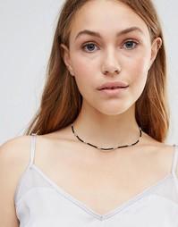 Ожерелье-чокер из бусин Ashiana - Черный
