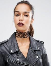 Ожерелье-чокер с вырезами Suzywan Halloween - Черный