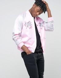 Куртка-пилот Jaded London Souvenir - Розовый