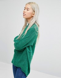 Мягкий вязаный джемпер Weekday - Зеленый