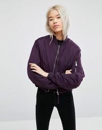 Укороченная куртка-пилот Weekday - Фиолетовый