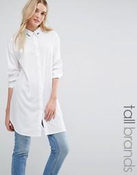 Рубашка с вышивкой Daisy Street Tall - Белый