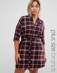 Платье-рубашка в клетку Junarose - Мульти