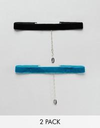 2 ожерелья-чокер Krystal - Черный