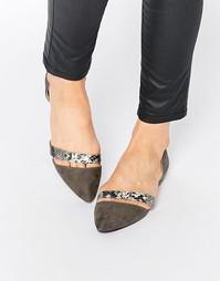 Туфли на плоской подошве Park Lane - Серый