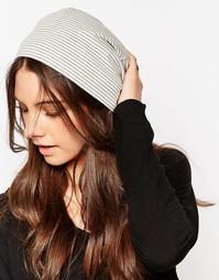 Свободная шапка-бини из мягкого трикотажа Hat Attack - Серый