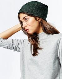 Свободная шапка-бини в рубчик Hat Attack - Зеленый