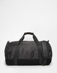 Черная атласная сумка с сетчатой вставкой Mi-Pac - Черный