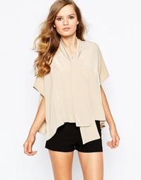 Рубашка с завязкой‑бантом The Laden Showroom X Mirror Mirror - Бежевый