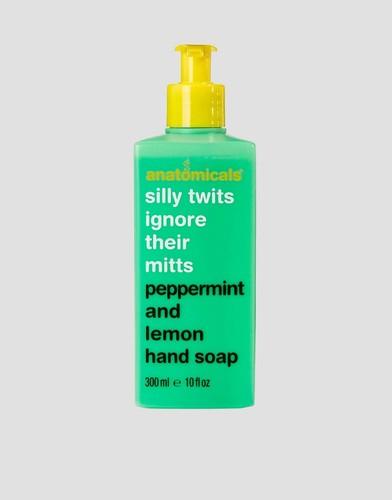 Мыло с мятой и лимоном Anatomicals Silly Twits Ignore Their Mitts - 300 мл - Бесцветный