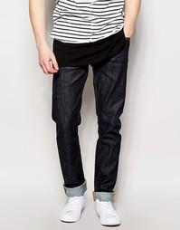 Узкие джинсы из саржи Nudie Jeans Thin Finn - Синий